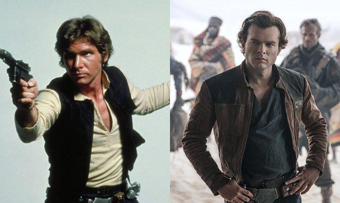 A la izquierda, Harrison Ford. A la derecha, Alden Ehrenreich